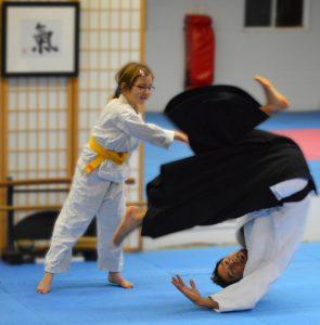 children martial arts class