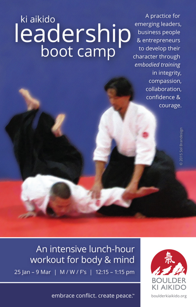 Boulder Ki Aikido Leadership Training Boot Camp Flyer