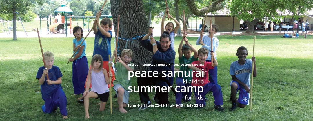 2018 Boulder Summer Camp for Kids Ki Aikido Peace Samurai slide