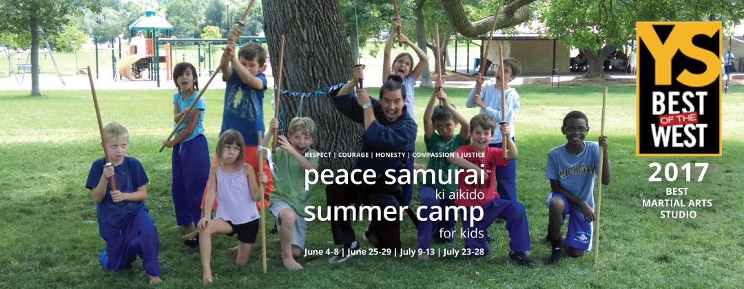 2018 Boulder Summer Camp for Kids Ki Aikido Peace Samurai slide