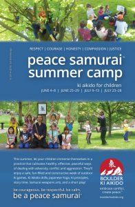 peace samurai boulder summer camp
