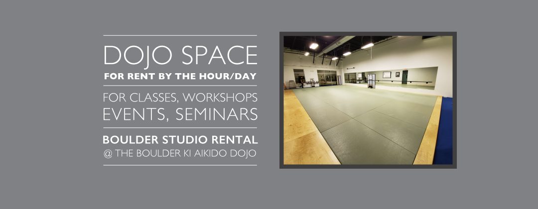 Boulder Studio Rental | Dojo Space for Rent by the Hour