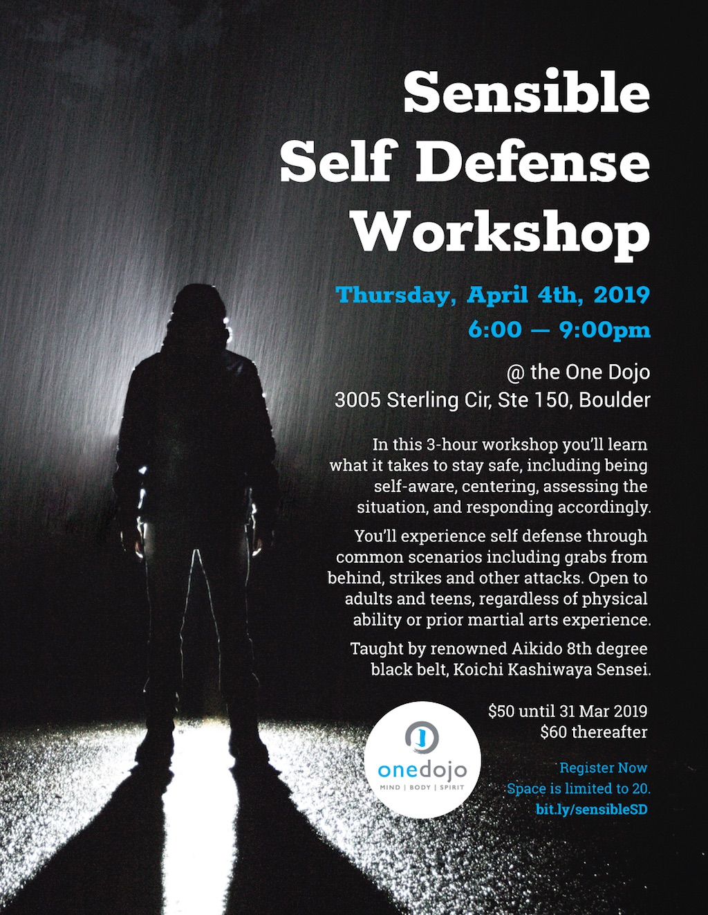 sensible self defense boulder flyer image
