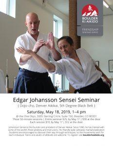 Edgar Johansson Aikido Seminar Boulder 18 May 2019