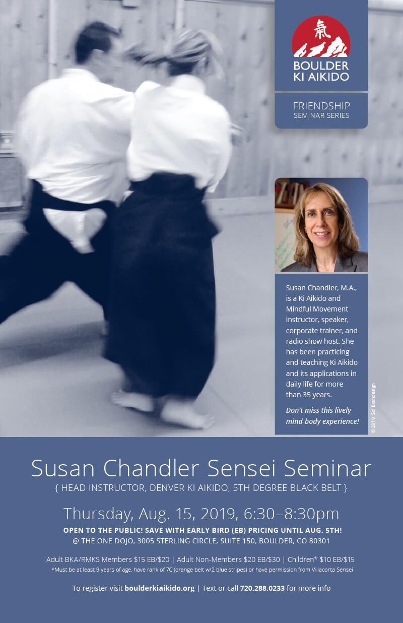 Susan Chandler Ki Aikido Seminar August 15 2019