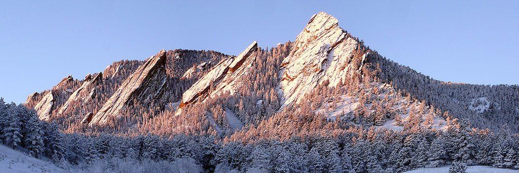 View of Flatirons Boulder from Aikido Teacher Training